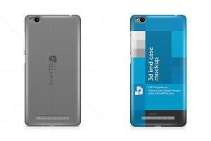 Xiaomi Redmi 3 Phone Case Mockup