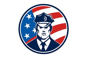 American Policeman Security Guard
