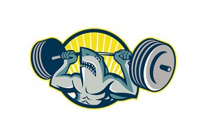 Shark Weightlifter Lifting Barbell