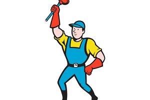 Super Plumber Wielding Plunger Carto