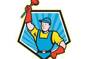 Super Plumber Wielding Plunger