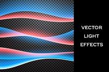 Light waves. Vector effects set