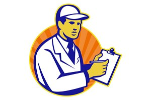 Technician Inspector Worker Clip
