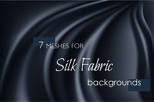 Vector silk fabric texture meshes
