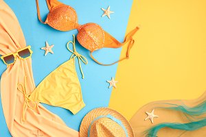 Fashion Summer clothes Bikini set. Beach Outfit