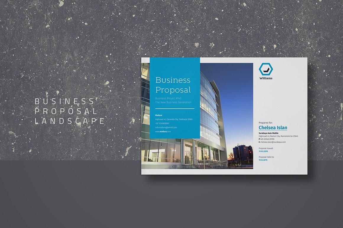 Business Proposal Landscape Brochure Templates