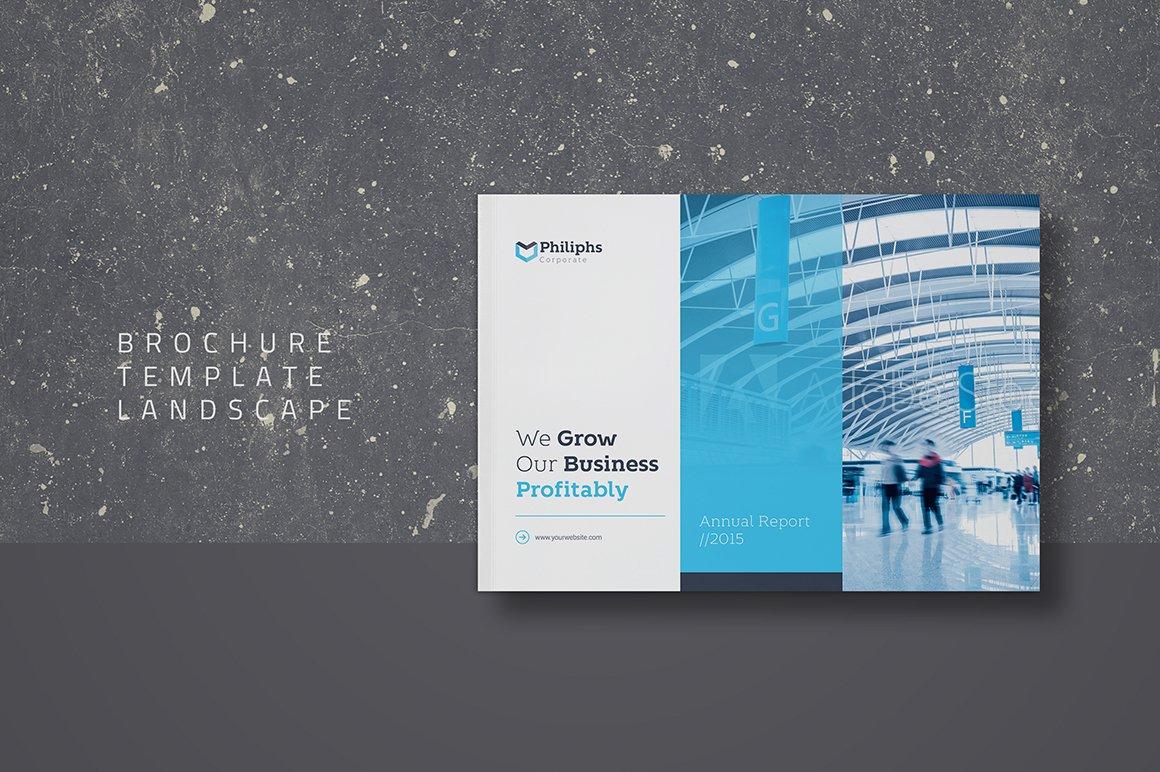 brochure template landscape brochure templates creative market