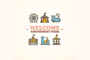 Amusement Park Embleme.