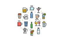 Drink Round Design Icon