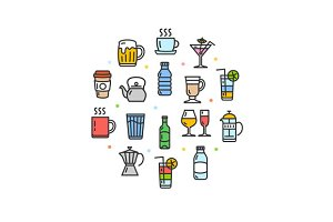 Drink Round Design Icon
