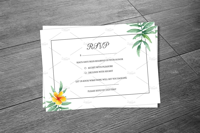 Wedding Rsvp Card Template Creative Photoshop Templates Creative Market
