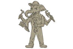 Ganesha Elephant Handyman Tools