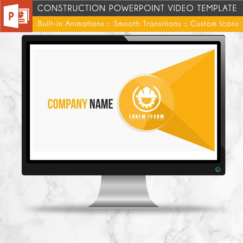 Construction powerpoint template presentation templates construction powerpoint template presentation templates creative market toneelgroepblik Gallery
