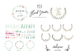 MIX wreath and floral set