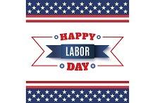 Happy Labor Day background.