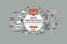 Data protection hero banners set