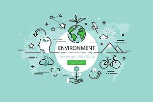 Environment hero banners set