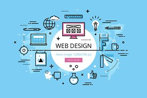 Web Design hero banners set