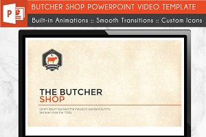 Butcher Power Point Video Template