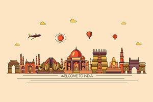 India line skyline