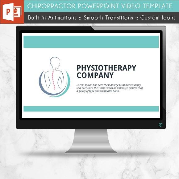 Chiropractor PowerPoint Video ~ Presentation Templates ~ Creative Market