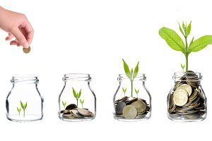 Investment growth concept