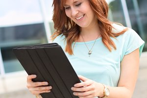 Woman with tablet