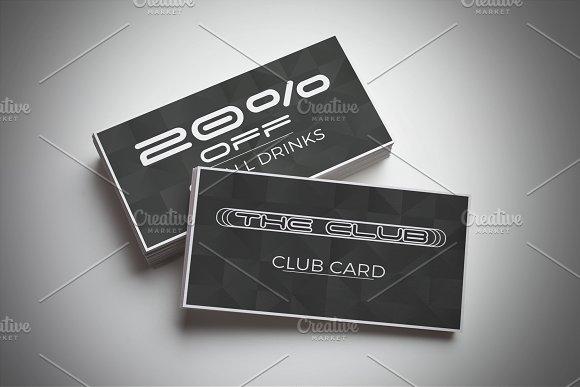 Night Bar Club Card