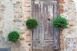 Old residential doors in Italy