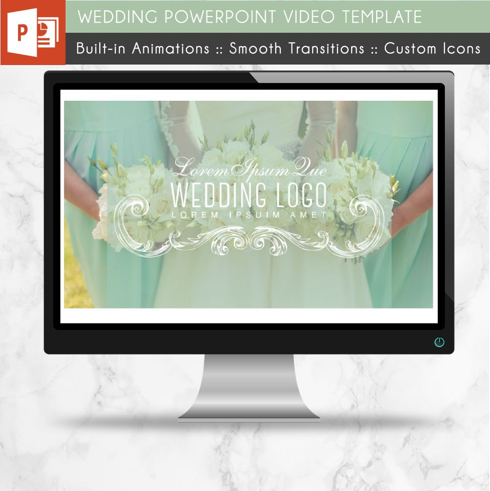 Wedding powerpoint video template presentation templates wedding powerpoint video template presentation templates creative market wajeb Gallery