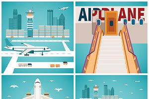 Airport concepts set