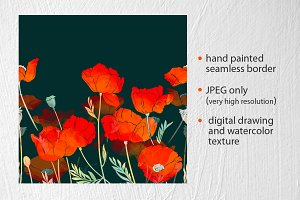 imprints bright poppies