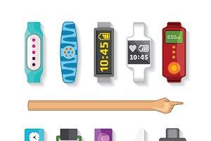 Tracking wristband set