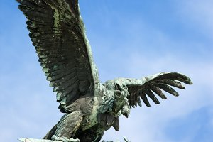 Mythical Turul Bird in Budapest