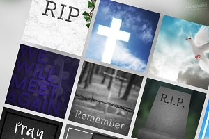 Mourning Social Media Banners