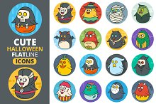Cute Flat Halloween Characters Vol.2