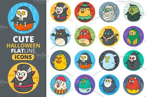Cute Flat Halloween Characters Vol.2 - Illustrations