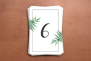 Printable Wedding Table Number