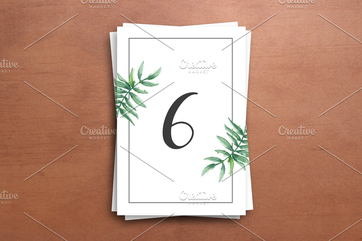 table numbers template for weddings.html