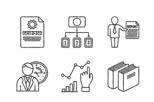 Sketched business iconset