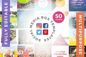 50 Social Media Box Templates
