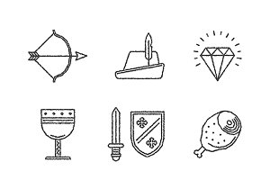 Sketched mediavel iconset