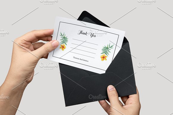 Wedding Thank You Card Template in Card Templates