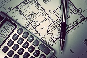 Calculator and blueprint