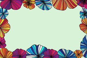 Summer flower set. Vector.