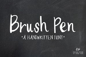Brush Pen Handwritten Font