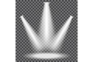Transparent Spotlight Element