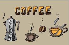 Coffee set. Vector