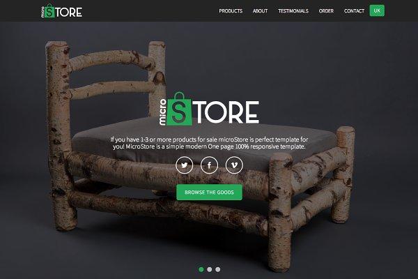 microStore - OnePage ecommerce Them…