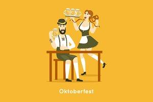 Oktoberfest characters.